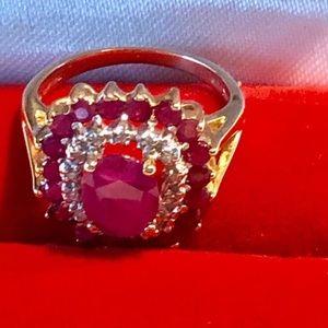 Ruby & Diamonds gold ring